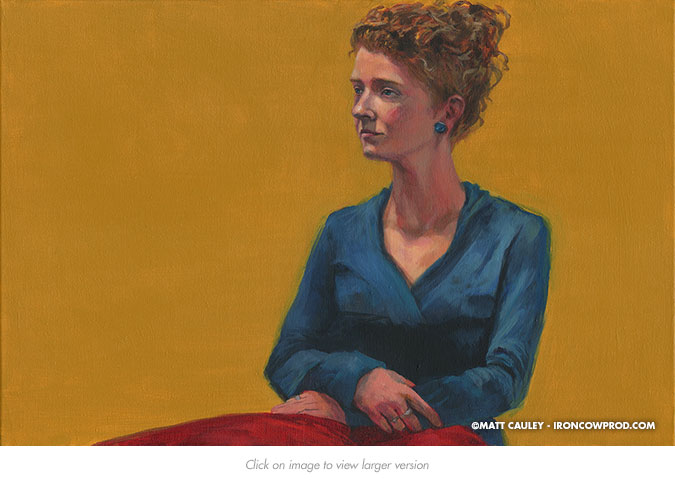 October 11 (Melinda) Acrylic on Canvas | 20 x 30 inches Painted 2014 by Matt Cauley