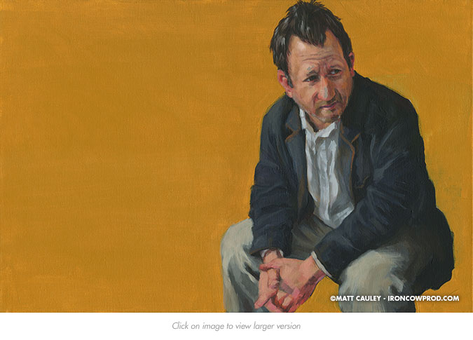 October 24 (Michael) Acrylic on Canvas | 20 x 30 inches Painted 2014 by Matt Cauley