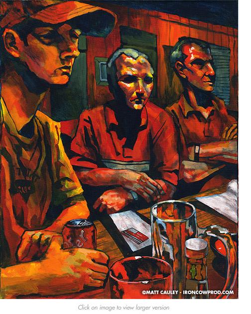 Austin Avenue Acrylic on canvas   24 x 30 inches Painted 2006 by Matt Cauley