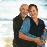 """Bob and Jill""   Acrylic on canvas   20 x 20 inches   Painted 2015 by Matt Cauley"