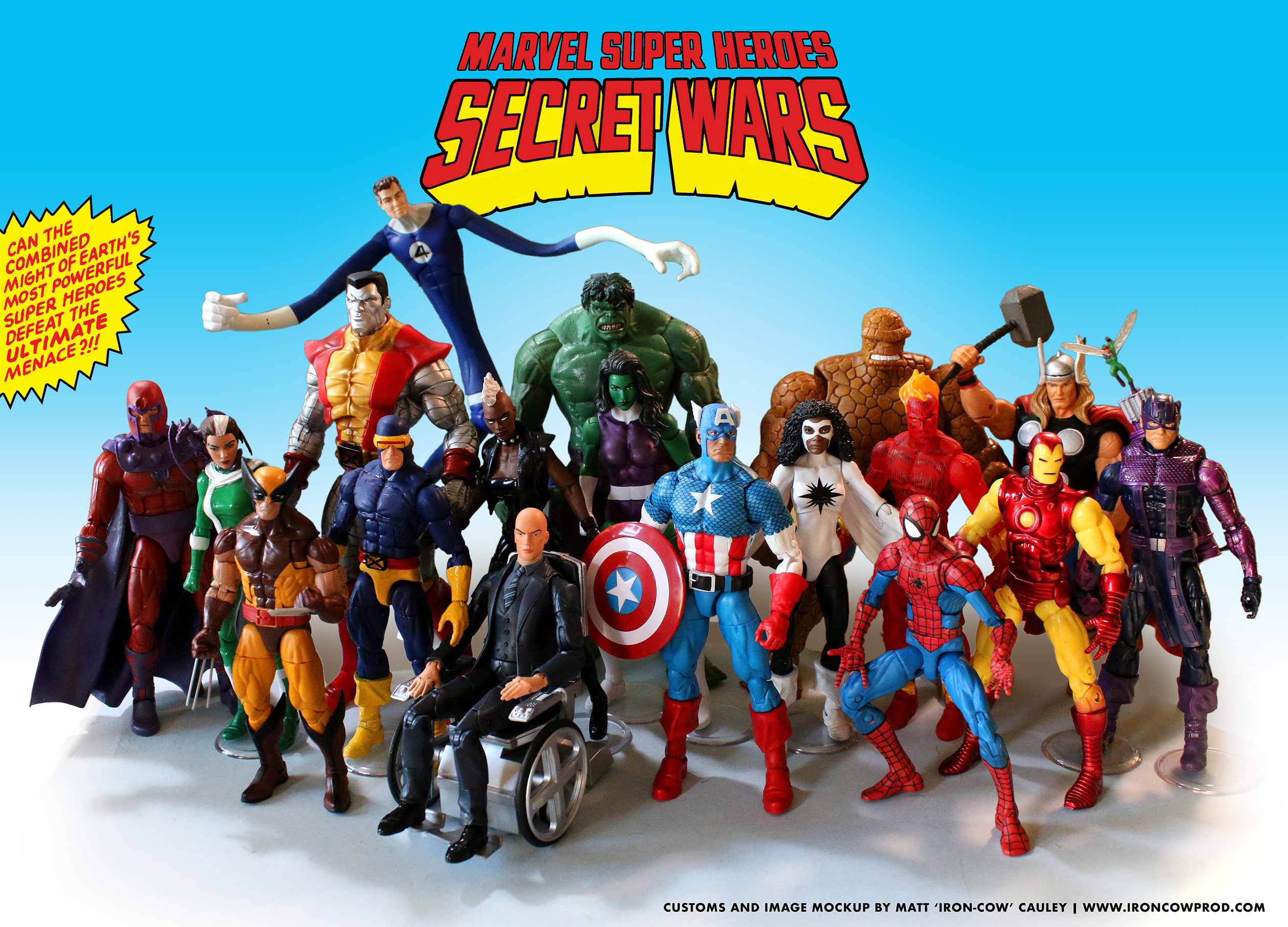 Marvel Super Heroes 60 Superhéroes: Iron-Cow Productions » New Customs! Marvel Superheroes