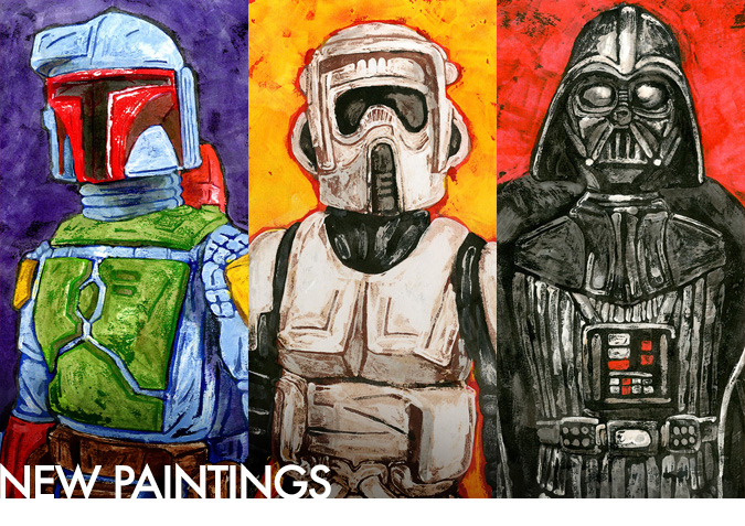 Childhood Revisited - 7 new Star Wars-themed paintings added!